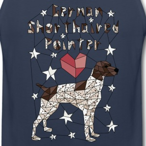 Geometric German Shorthaired Pointer Sportswear - Men's Premium Tank