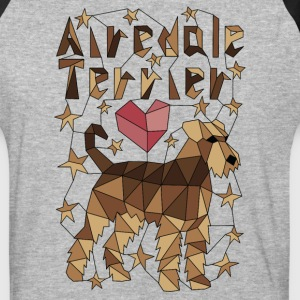 Geometric Airedale Terrier T-Shirts - Baseball T-Shirt