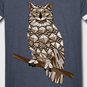 Geometric Great Horned Owl  T-Shirts - Vintage Sport T-Shirt