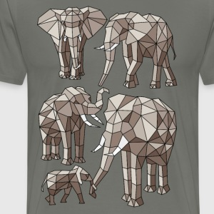 Geometric Elephants T-Shirts - Men's Premium T-Shirt