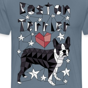 Geometric Boston Terrier T-Shirts - Men's Premium T-Shirt