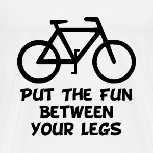 Bike Between Legs - Men's Premium T-Shirt