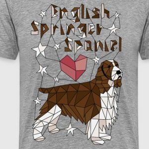 Geometric English Springer Spaniel T-Shirts - Men's Premium T-Shirt