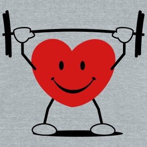heart sports - Unisex Tri-Blend T-Shirt by American Apparel