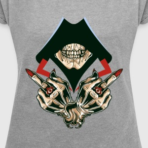 skull - Women´s Roll Cuff T-Shirt