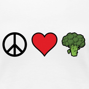 PeaceLoveBroccoli T-Shirts - Women's Premium T-Shirt