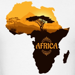 African Safari with Africa map t-shirt - Men's T-Shirt
