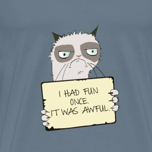Grumpy Cat Had Fun Once T Shirt - Men's Premium T-Shirt