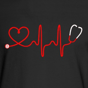 Nurse Heartbeat Shirt - Men's Long Sleeve T-Shirt