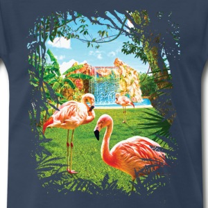 Pink Flamingo Paradise - Men's Premium T-Shirt