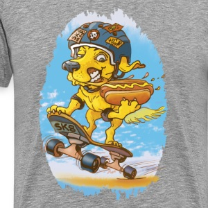 Skateboarding Hot Dog - Men's Premium T-Shirt
