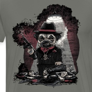 Mafia Pug Gangster - Men's Premium T-Shirt