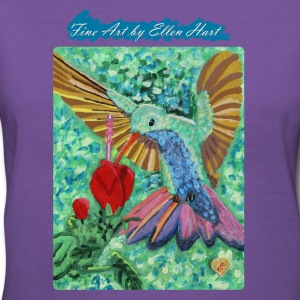 Hummingbird, Women's V-Neck T-Shirt  - Women's V-Neck T-Shirt