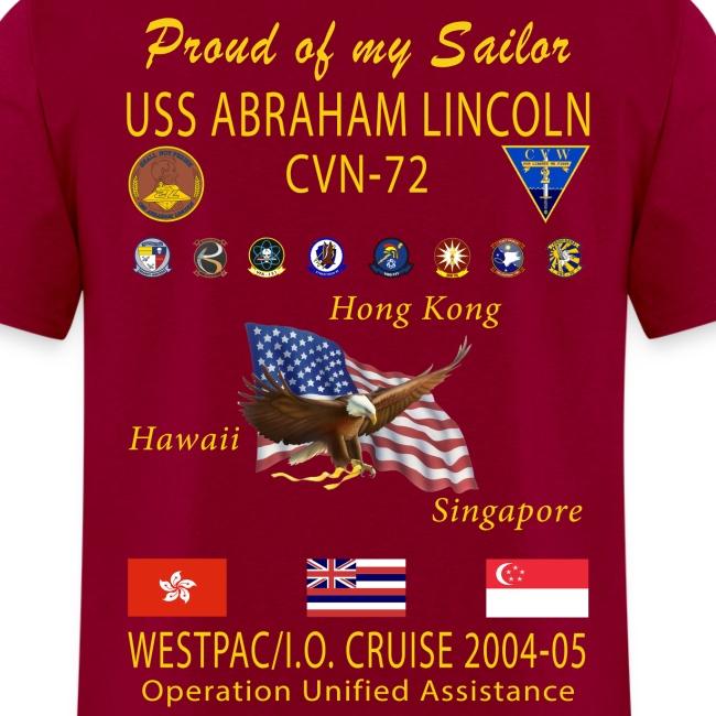USS ABRAHAM LINCOLN CVN-72 WESTPAC 2004-05 CRUISE SHIRT - FAMILY EDITION