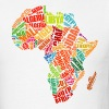 Africa Map T-Shirt With Word Pattern - Men's T-Shirt