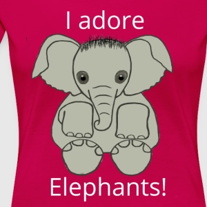 Love Elephants in Pink - Women's Premium T-Shirt