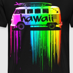 Hawaii Surfer Bus - Men's Premium T-Shirt
