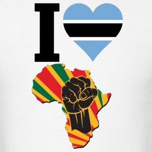 I Love Botswana Flag Africa Black Power T-Shirt - Men's T-Shirt