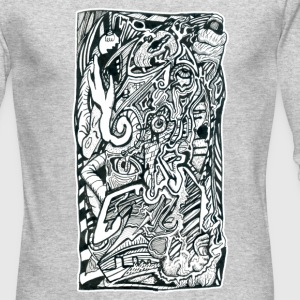 Anxiety Attack by Brian Benson, Men's Long-sleeve - Men's Long Sleeve T-Shirt by Next Level