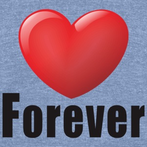 love forever - Unisex Tri-Blend T-Shirt by American Apparel