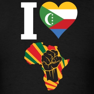 I Love Comoros Flag Africa Black Power T-Shirt - Men's T-Shirt