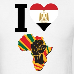 I Love Egypt Flag Africa Black Power T-Shirt - Men's T-Shirt