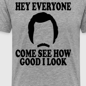 Anchorman Quote - Hey Everyone.... - Men's Premium T-Shirt