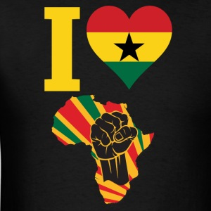 I Love Ghana Flag Africa Black Power T-Shirt - Men's T-Shirt