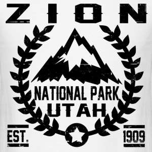 zion national park utah est 1909 - Men's T-Shirt