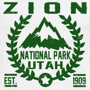 zion national park utah est 1909 - Men's Premium T-Shirt