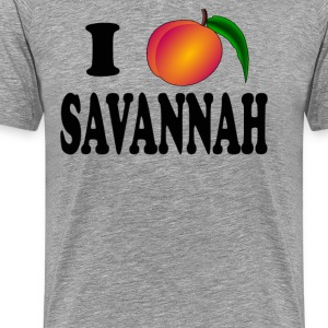 I Love Savannah  - Men's Premium T-Shirt