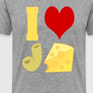 I Love Macaroni And Cheese - Men's Premium T-Shirt