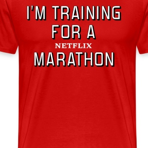 I'm Training For A Netflix Marathon - Men's Premium T-Shirt