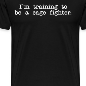 Napoleon Dynamite - Training To Be A Cagefighter.. - Men's Premium T-Shirt