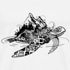 Surreal sea turtle T-Shirts - Men's Premium T-Shirt