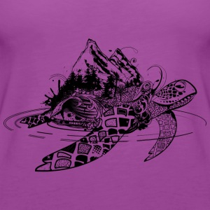 Surreal sea turtle Tanks - Women's Premium Tank Top