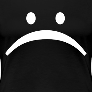 Unhappy Sad Face Smiley Emoticon T-Shirts - Women's Premium T-Shirt