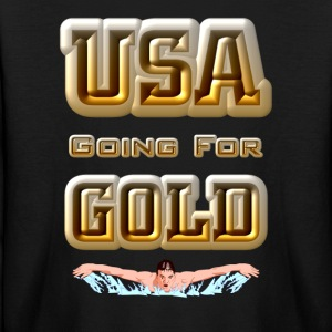USA Going For GOLD Swimming Kids Long Sleeve T-Shi - Kids' Long Sleeve T-Shirt