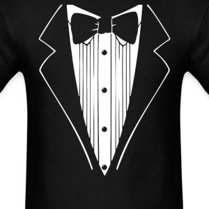 Hot Funny TUXEDO Wedding Groom Prom Bow - Men's T-Shirt