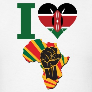 I Love kenya Flag Black Power T-Shirt - Men's T-Shirt
