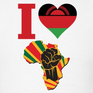 I Love Malawi Flag Africa Black Power T-Shirt - Men's T-Shirt