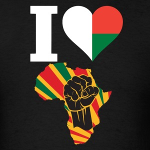 I Love Madagascar Flag Black Power T-Shirt - Men's T-Shirt