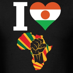 I Love Niger Flag Black Power T-Shirt - Men's T-Shirt