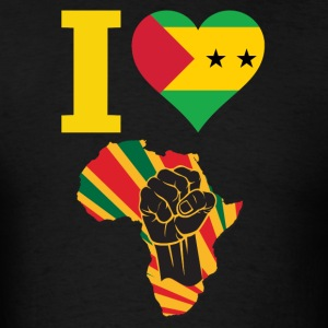 I Love Sao Tome Africa Black  Power T-Shirt - Men's T-Shirt