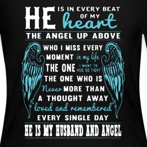 My Husband And Angel - Women's Long Sleeve Jersey T-Shirt