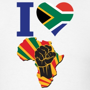 I Love South Africa Flag Africa Black Power T-Shir - Men's T-Shirt