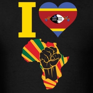 I Love Swziland Flag Black Power T-Shirt - Men's T-Shirt