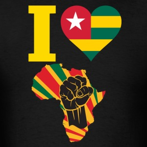 I Love Togo Flag Africa Black Power T-Shirt - Men's T-Shirt