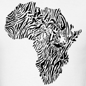 Africa Map With Tiger Head T-Shirt - Men's T-Shirt