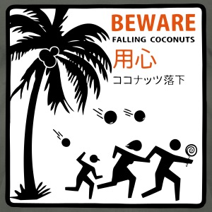 Beware Falling Coconuts - Men's T-Shirt by American Apparel